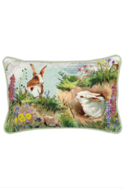 Michel Design Works Bunny Hollow Pillow - Front cropped
