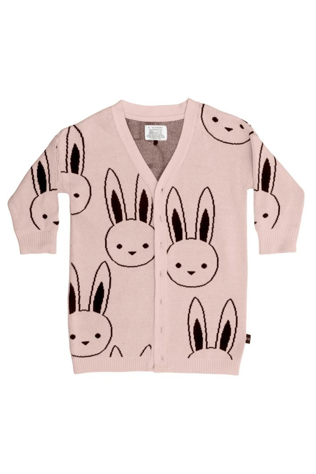Huxbaby Bunny Knit Cardigan - Front Cropped Image