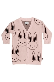 Huxbaby Bunny Knit Cardigan - Front cropped