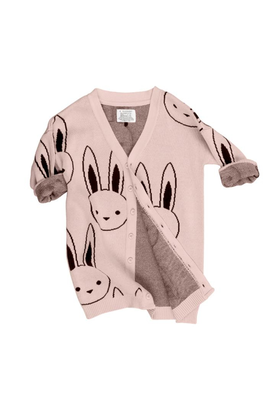 Huxbaby Bunny Knit Cardigan - Front Full Image