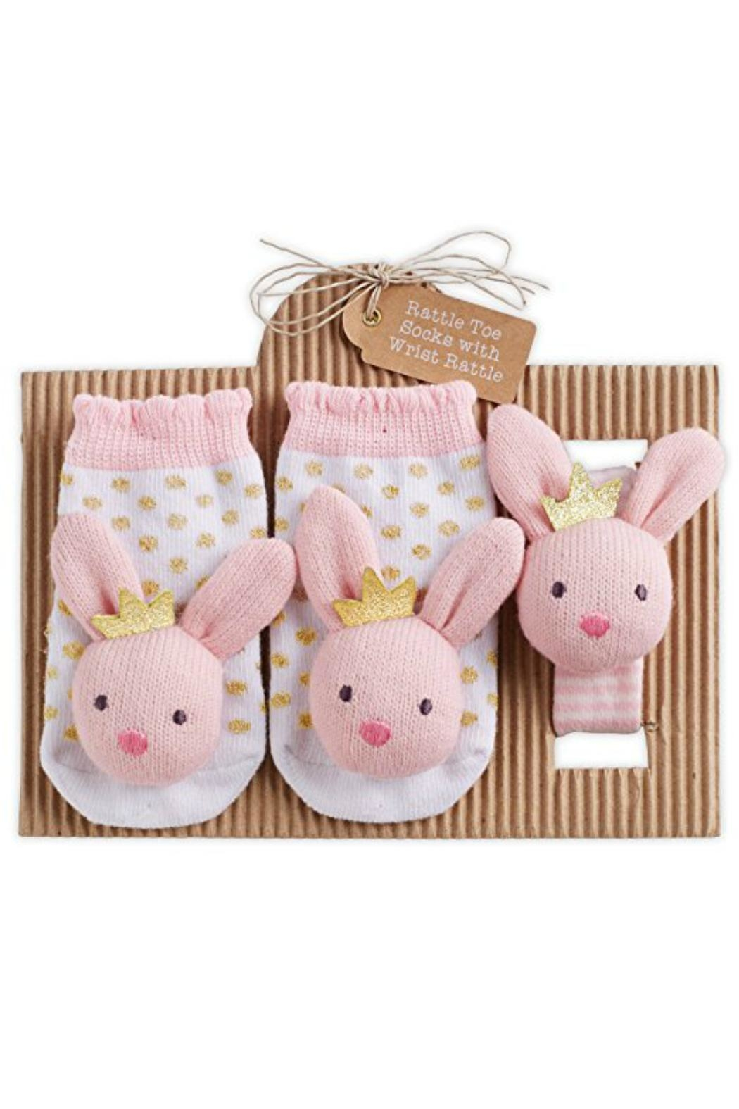 Mud Pie Bunny Rattle/sock Set - Main Image
