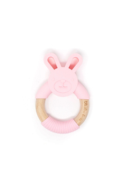 Three Hearts Bunny Teether - Front cropped