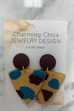 Charming Chics Bur Gold Earrings - Alternate List Image