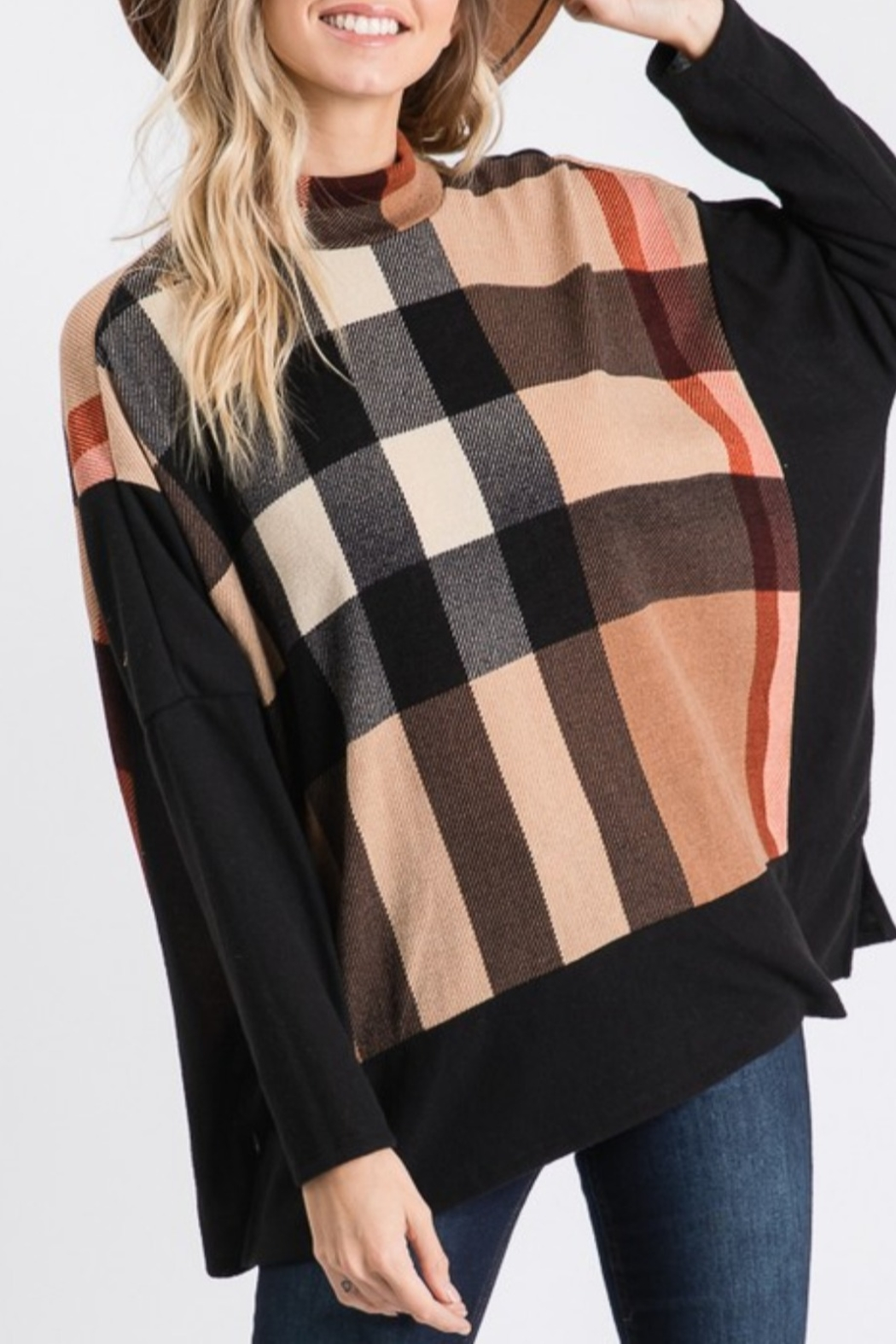 Hailey & Co Burberry Plaid Hacci - Side Cropped Image