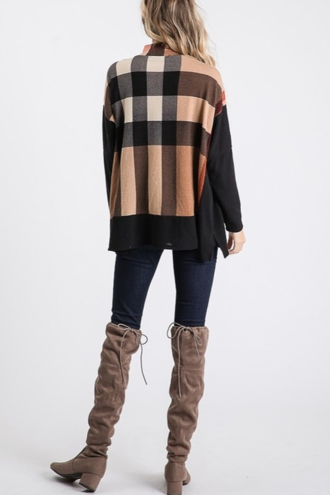 Hailey & Co Burberry Plaid Hacci - Front Full Image
