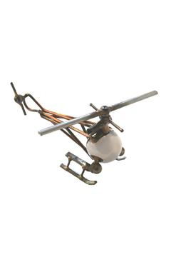 Shoptiques Product: Metal Art Helicopter