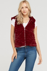 Lovetree Burgundy Bear Vest - Product Mini Image