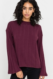 Lush Burgundy Bell-Sleeved Top - Product Mini Image