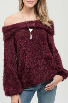Shoptiques Product: Burgundy Bliss Sweater