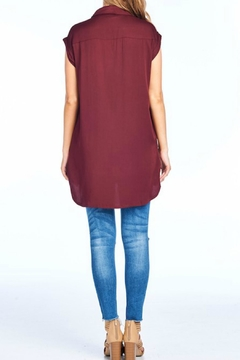 BD Collection Burgundy Button Top - Alternate List Image