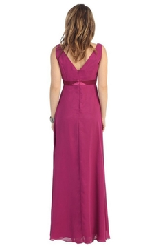 May Queen  Burgundy Chiffon Formal Long Dress - Alternate List Image