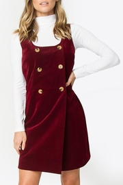 Sugarlips Burgundy Corduroy Dress - Product Mini Image