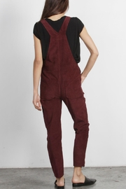 Mod Ref Burgundy Corduroy Overalls - Side cropped