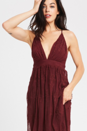 Wishlist Burgundy Embroidered Maxi - Product Mini Image