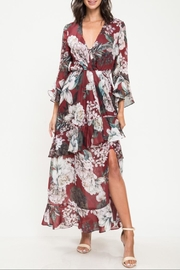Latiste Burgundy Floral Dress - Product Mini Image