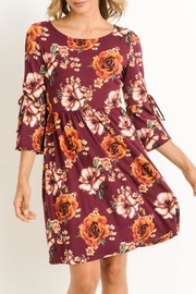 Gilli Burgundy Floral Dress - Product Mini Image