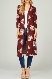 Lime n Chili Burgundy Floral Duster - Product Mini Image