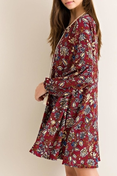 Shoptiques Product: Burgundy Floral-Print Dress
