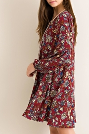 Entro Burgundy Floral-Print Dress - Product Mini Image