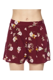 Polly & Esther Burgundy Floral Shorts - Product Mini Image