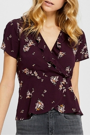 Gentle Fawn Burgundy Floral Top - Product Mini Image