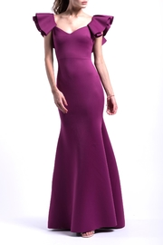 ANA PEREZ Burgundy Gala Dress - Product Mini Image