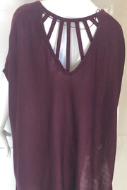 Wishlist Burgundy High-Low Cutout-Top - Product Mini Image