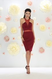 May Queen  Burgundy Illusion Short Dress - Product Mini Image
