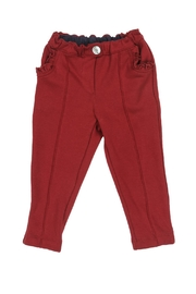 Malvi & Co. Burgundy Jersey Trousers. - Front cropped