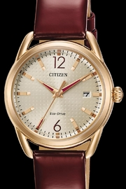 Citizen Watches Burgundy Leather Watch - Product Mini Image