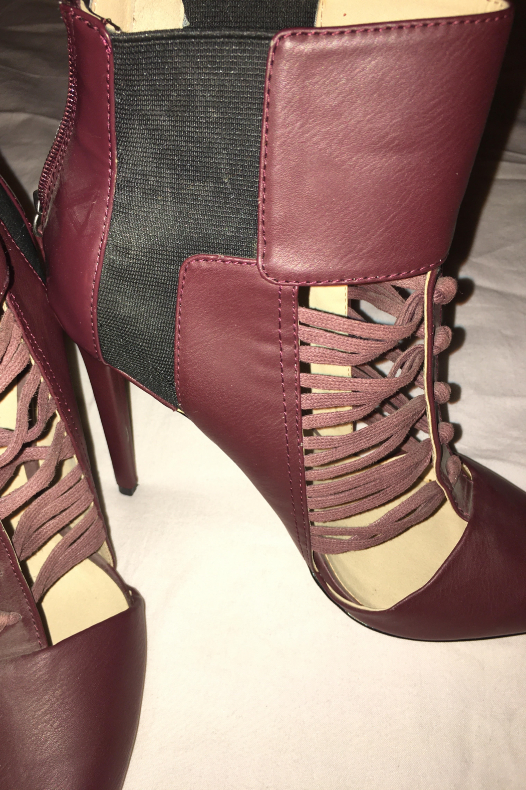 GX Burgundy or Wine Color Shoe/Bootie - Front Full Image