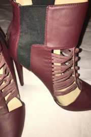 GX Burgundy or Wine Color Shoe/Bootie - Front full body