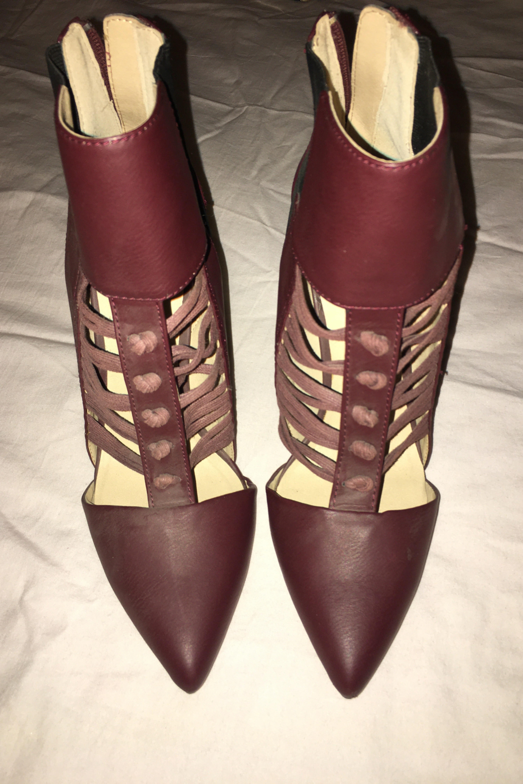 GX Burgundy or Wine Color Shoe/Bootie - Front Cropped Image