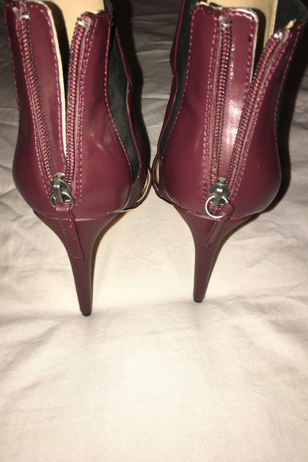 GX Burgundy or Wine Color Shoe/Bootie - Side Cropped Image