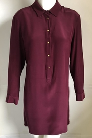 Amanda Uprichard Burgundy Placket Dress - Product Mini Image