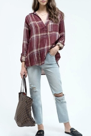 Blu Pepper Burgundy Plaid Shirt - Product Mini Image