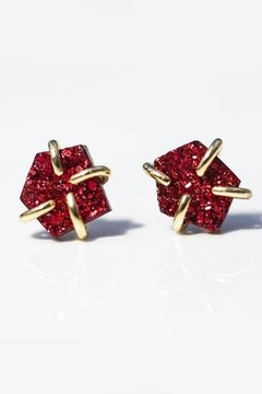 Shoptiques Product: Burgundy Prong Druzy Earrings