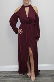 Lush Burgundy Romper - Product Mini Image