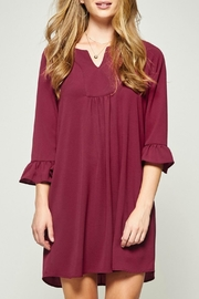 Andree by Unit Burgundy Shift Dress - Product Mini Image