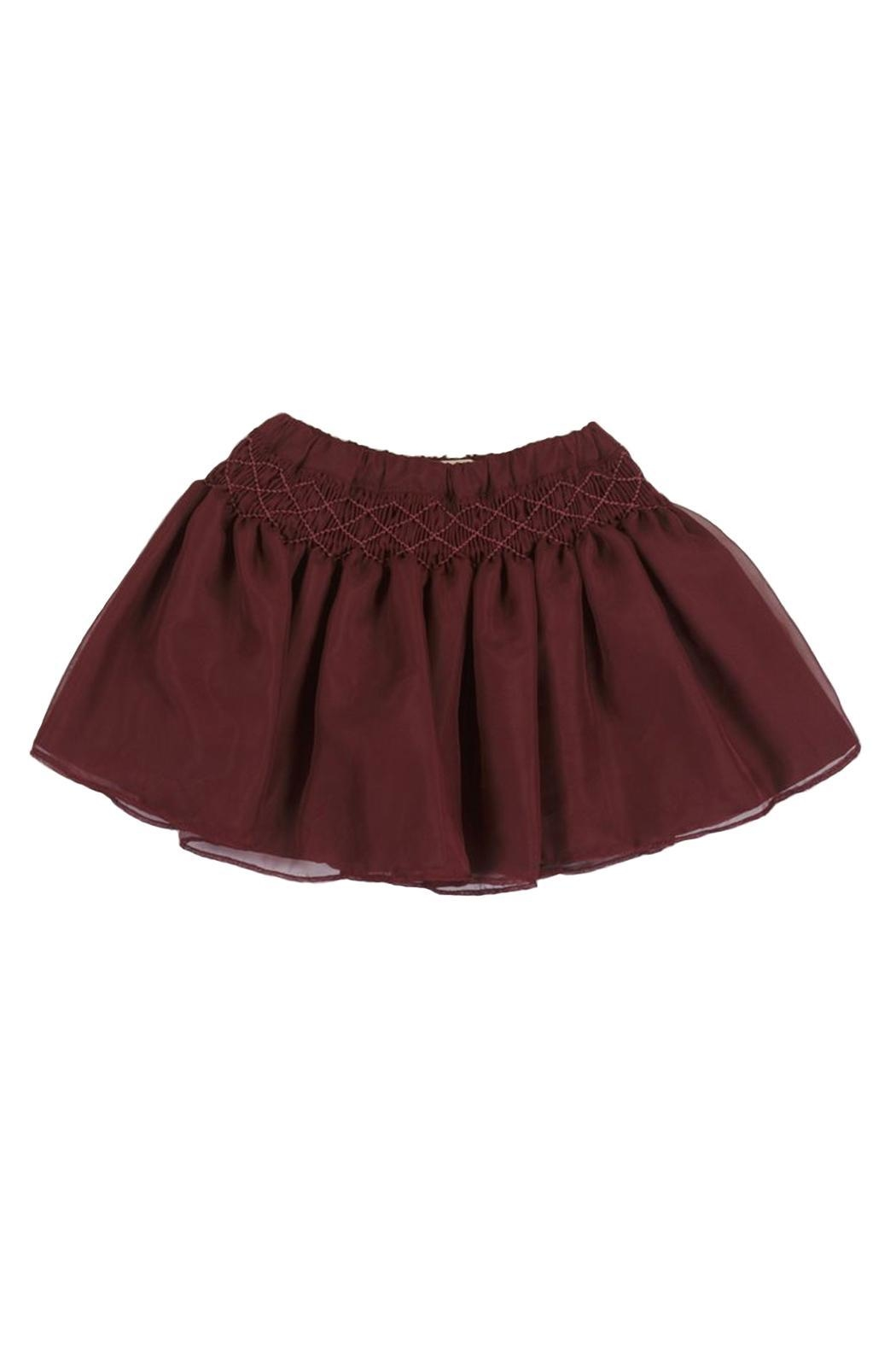 Malvi & Co. Burgundy Smocked Skirt. - Main Image