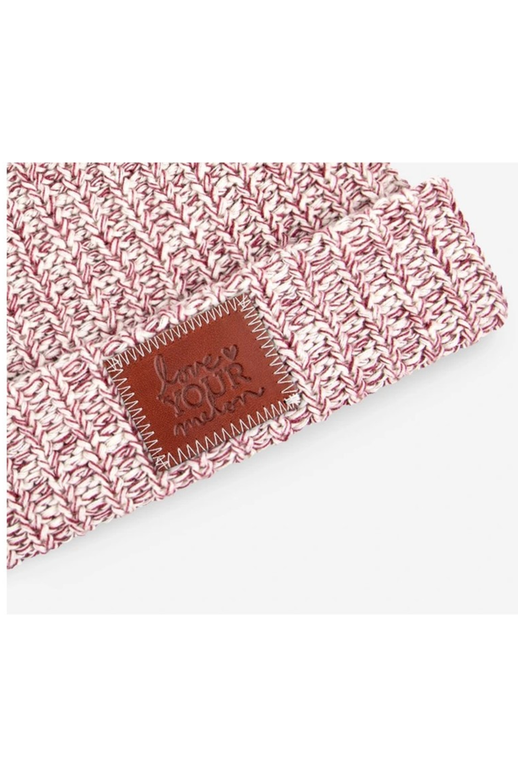 Love Your Melon Burgundy Speckled Cuffed Beanie - Side Cropped Image