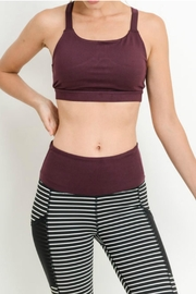 Mono B Burgundy Sports Bra - Product Mini Image