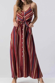 Etwo Burgundy Stripe Dress - Product Mini Image