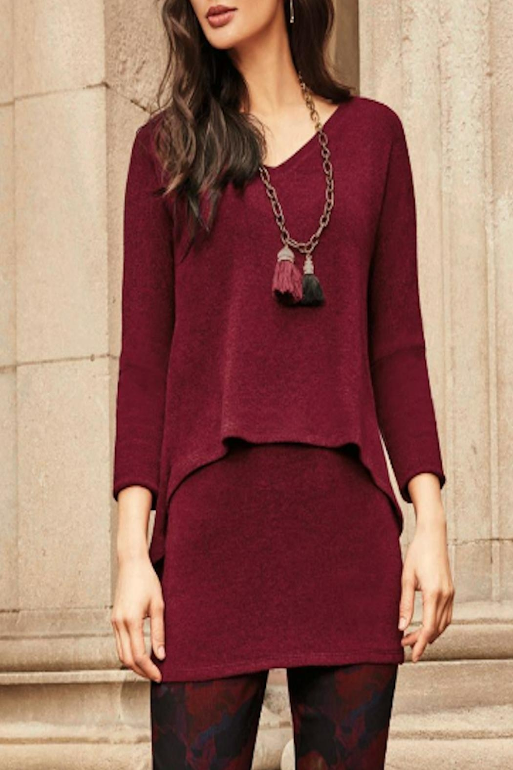 Frank Lyman Burgundy Sweater - Front Cropped Image