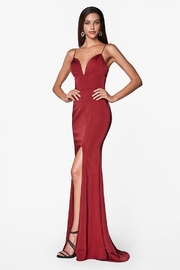 Cinderella Divine Burgundy Sweetheart Long Formal Dress - Product Mini Image