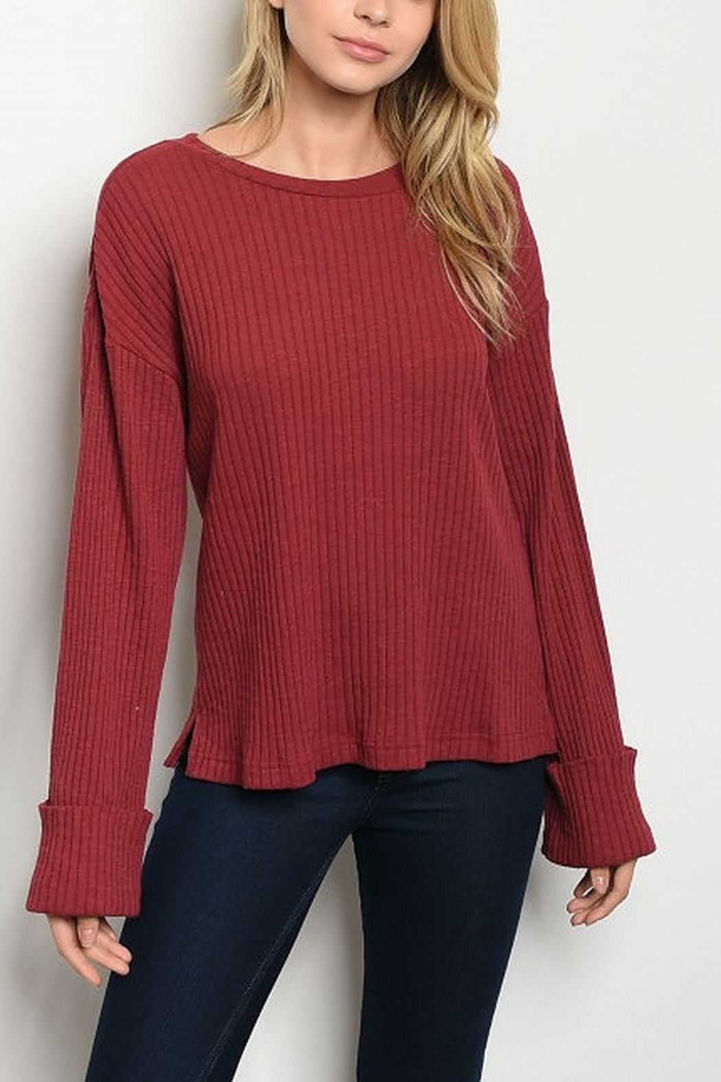 Lyn-Maree's  Burgundy Top - Main Image