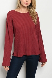 Lyn-Maree's  Burgundy Top - Front cropped