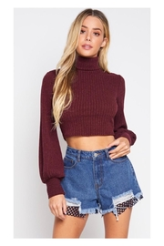 Polly & Esther Burgundy Turtleneck Top - Product Mini Image
