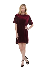 Mud Pie Burgundy Velvet Dress - Product Mini Image