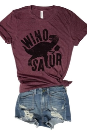 Everfitte Burgundy Winosaur Tee - Product Mini Image